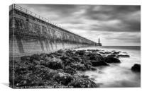 The Pier at Tynemouth, Canvas Print