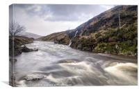 River Etive whitewater, Canvas Print