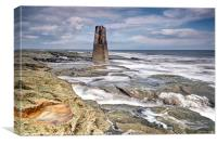 Behind St Marys Lighthouse, Canvas Print