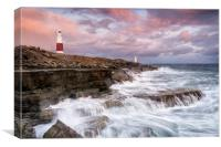 Stormy Sunset at Portland Bill, Canvas Print