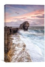 Autumn storms at Portlands Pulpit Rock, Canvas Print