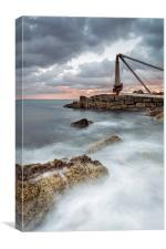 The Old Winch at Portland, Canvas Print