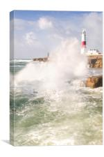 Portland Bill Storms, Canvas Print
