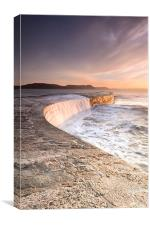 Sunkissed Cobb at Lyme Regis, Canvas Print