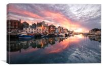 The Harbourside, Canvas Print