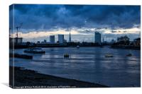 The Thames at Greenwich, Canvas Print