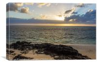 Morning at Belle Mare, Canvas Print
