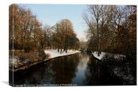 Snow covered Bruges, Canvas Print