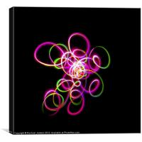 Pink Green Squiggle, Canvas Print