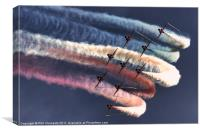 Red Arrows Roll, Canvas Print