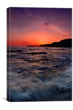Birling Gap Sunset, Canvas Print