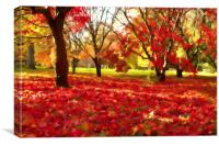 Autumn leaves., Canvas Print