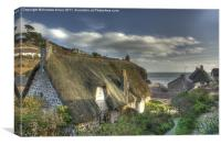 Cottages at cadgwith, Canvas Print
