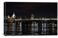 Night time in London, Canvas Print