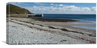 The Beach at Laxey, Canvas Print
