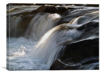 Falls on the River Caldew, Canvas Print
