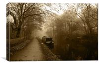 Canal in Sepia, Canvas Print
