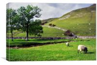 Sheep May Safely Graze, Canvas Print