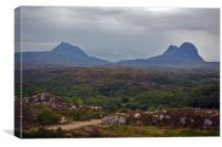 Canisp and Suilven, Canvas Print