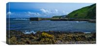 Burnmouth Harbour, Canvas Print