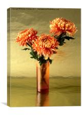ORANGE AND GOLD, Canvas Print