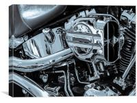 Harley Induction, Canvas Print