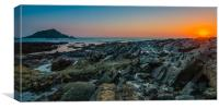 Wembury Sunset-1, Canvas Print