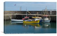 Small Boats in Annalong Harbour, Canvas Print