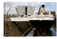 SS Nomadic Tender to the Titanic restored to its f, Canvas Print