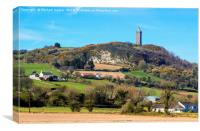 Scrabo Tower viewed from the south west on the Com, Canvas Print
