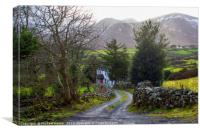 Country House down a lane on the Mourne Mountains, Canvas Print