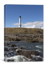Girdleness Lighthouse Rocks Photo, Canvas Print