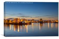 Aberdeen Coloured Gold, Canvas Print