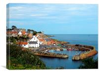 Crail Harbour, Canvas Print
