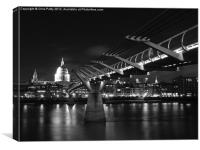 London, Millennium Bridge , Canvas Print