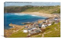 Sennen Cove and Whitesand Bay, Cornwall , Canvas Print