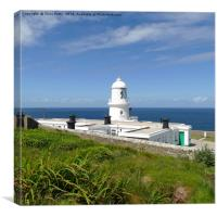 Pendeen Lighthouse, Cornwall, Canvas Print