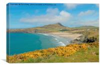 Whitesands Bay, Pembrokeshire, Wales, Canvas Print
