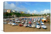 Tenby Harbour, Wales, Canvas Print
