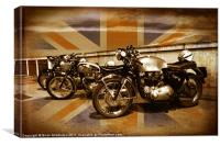 Cafe Racers on Chelsea Bridge, Canvas Print