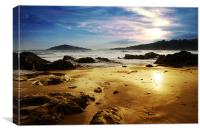 Burgh Island from Bantham Beach, Canvas Print