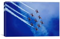 Red Arrows 6, Canvas Print