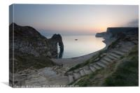 Durdle Door Dorset Sunset on a Spring evening , Canvas Print