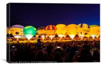 Bristol Balloon Fiesta Nightglow 2017, Canvas Print