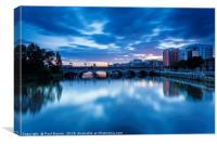 The River Clyde at Sunset, Canvas Print