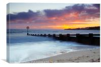 Swanage in Winter, Canvas Print