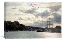 Red Arrows in Weymouth, Canvas Print