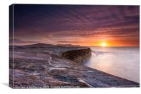 The Cobb Lyme Regis Sunrise, Canvas Print