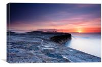The Cobb Lyme Regis at Sunrise, Canvas Print