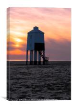 Sunset over Burnham, Canvas Print